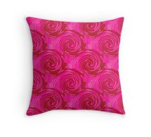 Abstract pattern in bright crimson tone.  Throw Pillow