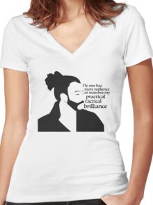 La Fayette Lyric Silhouette Women's Fitted V-Neck T-Shirt