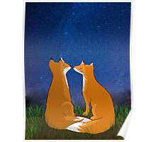 Foxes love Poster