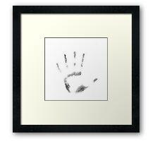 Human Handprint Framed Print