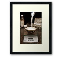 Precision Baking Framed Print
