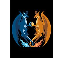 Mega Charizard X and Y: Sillhouettes Photographic Print