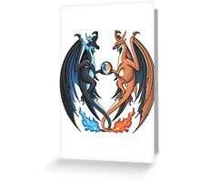 Mega Charizard X and Y Greeting Card