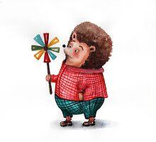 Hedgehog and windmill by Mariya Stupak