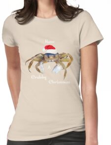 Crabby Christmas Womens Fitted T-Shirt