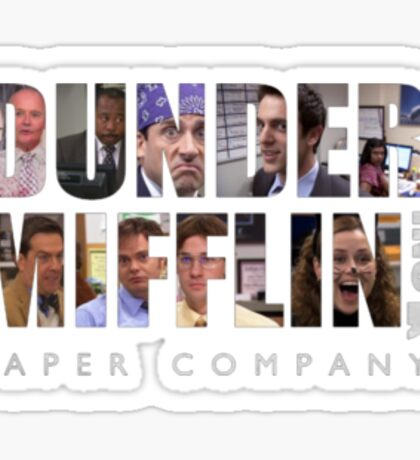 dunder mifflin paper Sticker