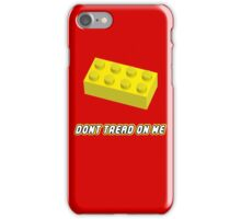 Don't Tread On Me Block iPhone Case/Skin