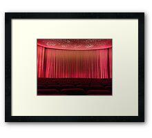 The Old Cinema Screen. Framed Print