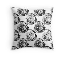 Abstract pattern in black and white tone. Throw Pillow