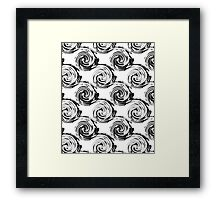 Abstract pattern in black and white tone. Framed Print
