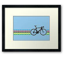 Bike Stripes World Champion (Chain) Framed Print