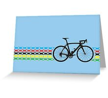 Bike Stripes World Champion (Chain) Greeting Card