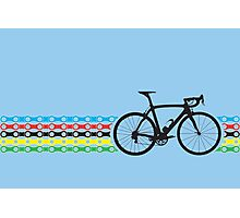 Bike Stripes World Champion (Chain) Photographic Print