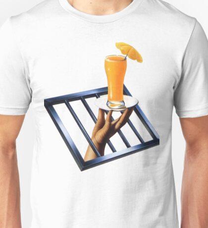 Hand Holding Orange Juice Unisex T-Shirt