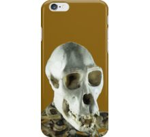 Chimpanzee skull iPhone Case/Skin