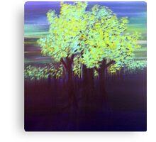 Port Dahlia Shades of Green Canvas Print