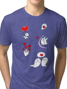 Valentine Ghosts Tri-blend T-Shirt