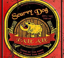 Scurvy Dog Pale Ale Weathered Sign by kayve