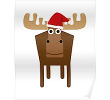 Christmasy Moose  Poster