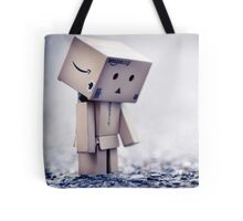 wanting her to come back before anyone notices part of the world has not moved since she left... Tote Bag