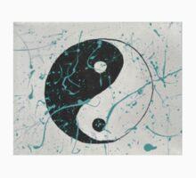 yin yang paint splatter One Piece - Short Sleeve