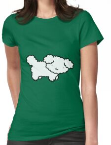 White Fluffy Dog Womens Fitted T-Shirt