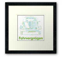 Fahrvergnugen Framed Print