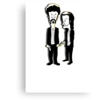Beavis and Butthead as Jules and Vincent in Pulp Fiction Canvas Print