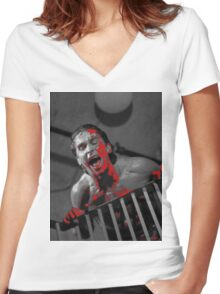 American Psycho Stairway Women's Fitted V-Neck T-Shirt