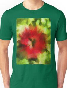 Abstract Christmas Flower Unisex T-Shirt