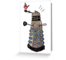 Cardinal vs Dalek Greeting Card