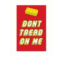 Don't Tread On Me Block Art Print