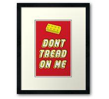 Don't Tread On Me Block Framed Print