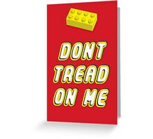 Don't Tread On Me Block Greeting Card