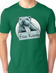 Cute Pit Bull Shirt-Free Kisses Unisex T-Shirt
