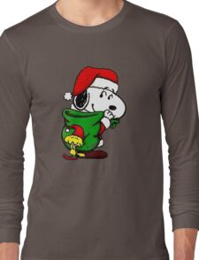 Santa Snoopy Long Sleeve T-Shirt