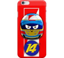 Fernando ALONSO_Helmet 2014 iPhone Case/Skin