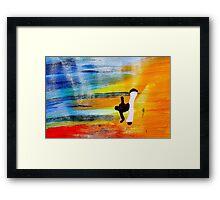 Capoeira love martial arts brazil Framed Print
