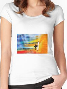 Capoeira love martial arts brazil Women's Fitted Scoop T-Shirt
