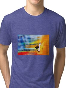 Capoeira love martial arts brazil Tri-blend T-Shirt
