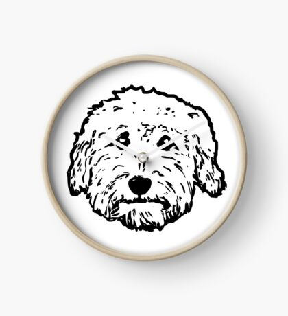 Goldendoodles! Adorable doodle dogs! Clock
