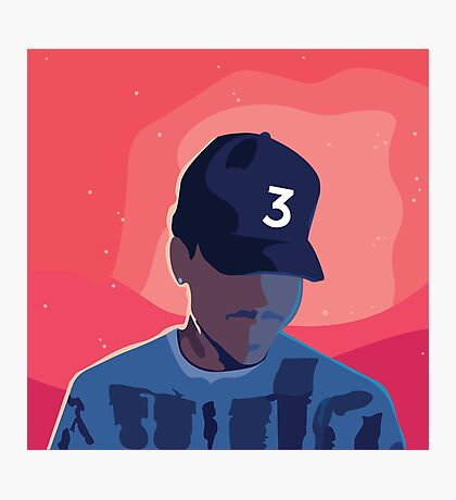 Chance the Rapper - Coloring Book with Background Photographic Print