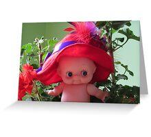 Red Hat Society Kewpie Greeting Card