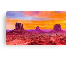 Monument Valley Sunset Canvas Print