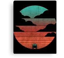 Driving Into The Sunset Canvas Print