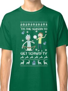 rick and morty ugly Christmas Classic T-Shirt