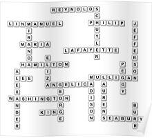 Bananagrams/Scrabble Hamilton Characters  Poster