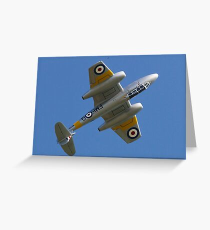 Meteor Over the Top Greeting Card