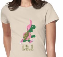 Turtle Runner in Pink 13.1 (half marathon) Womens Fitted T-Shirt