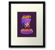 I'm Only Happy When it Rains Framed Print
